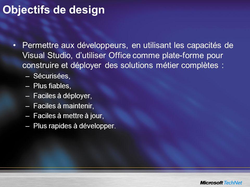 Objectifs de design