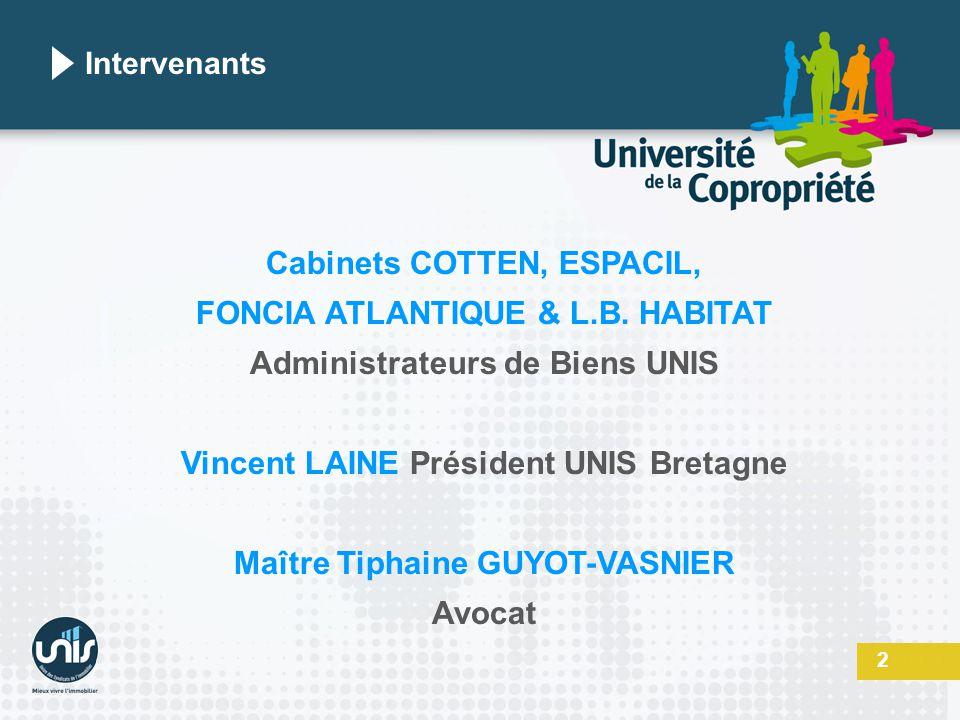 Cabinets COTTEN, ESPACIL, FONCIA ATLANTIQUE & L.B. HABITAT