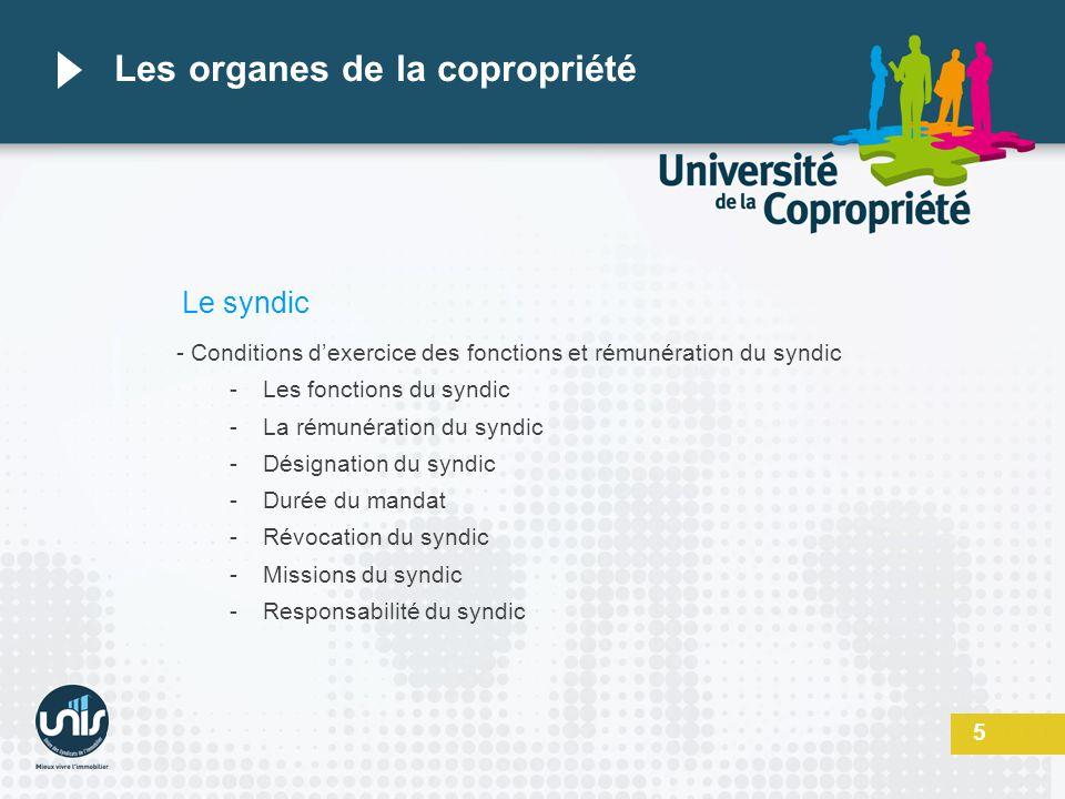 Les organes de la copropriété