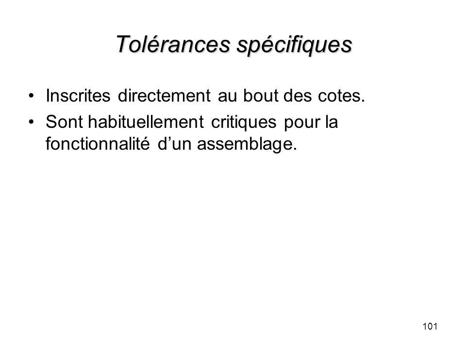 Tolérances spécifiques