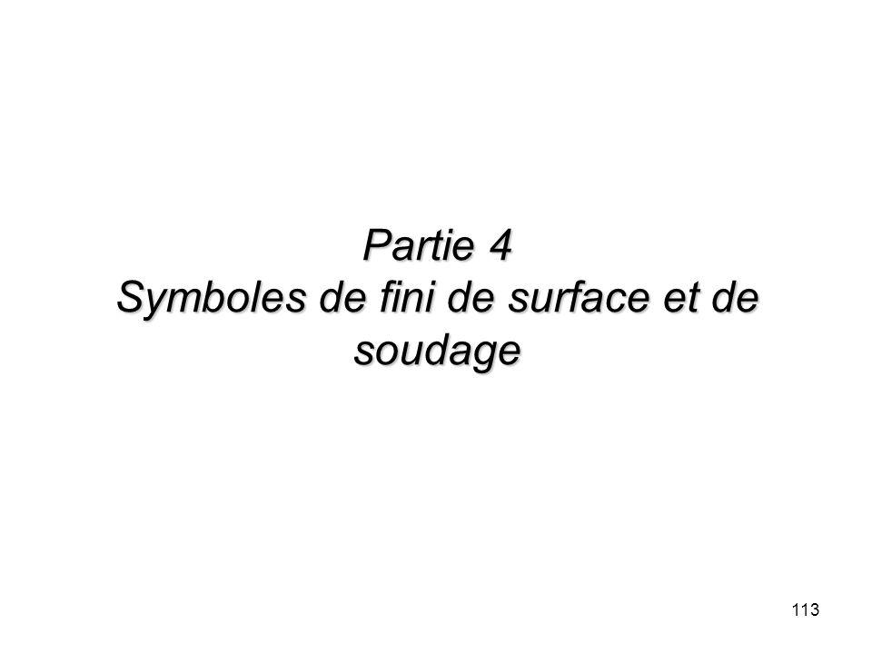 Partie 4 Symboles de fini de surface et de soudage