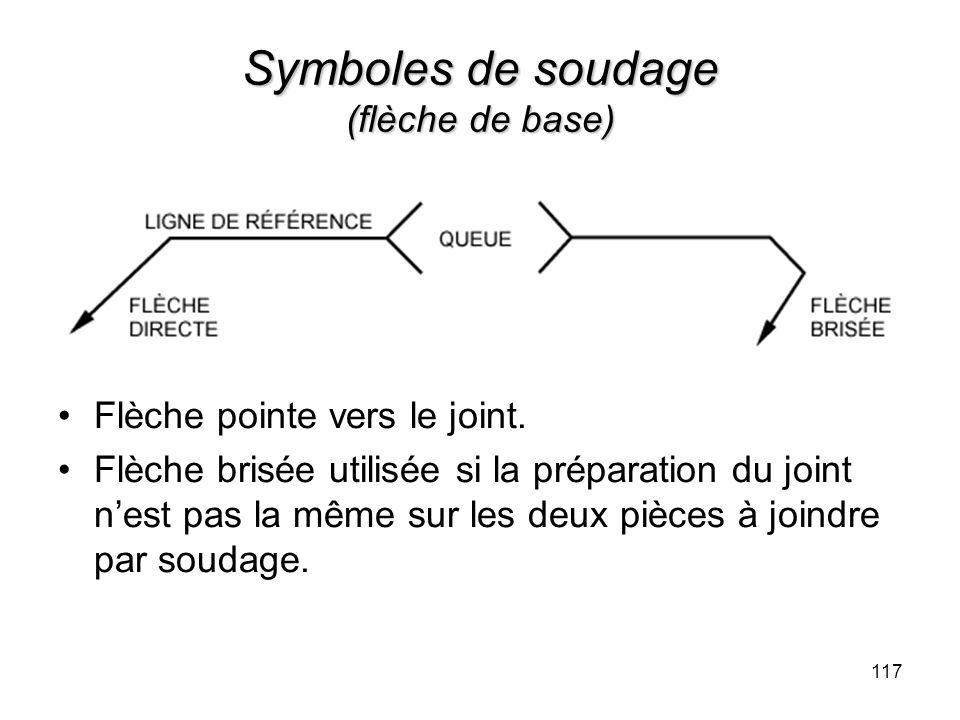 Symboles de soudage (flèche de base)