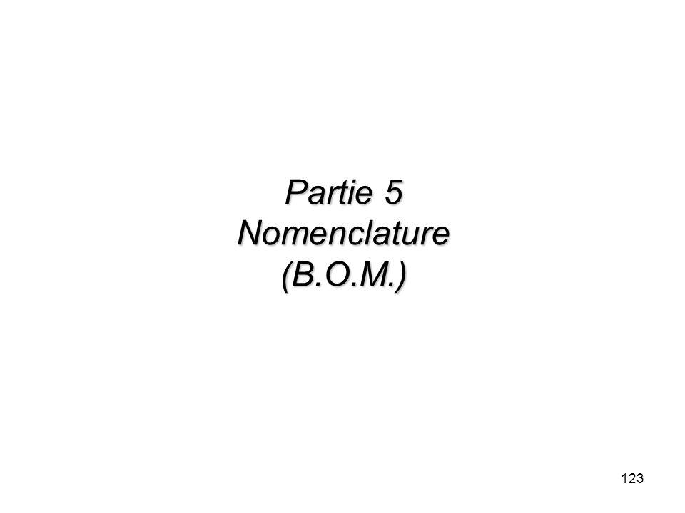 Partie 5 Nomenclature (B.O.M.)