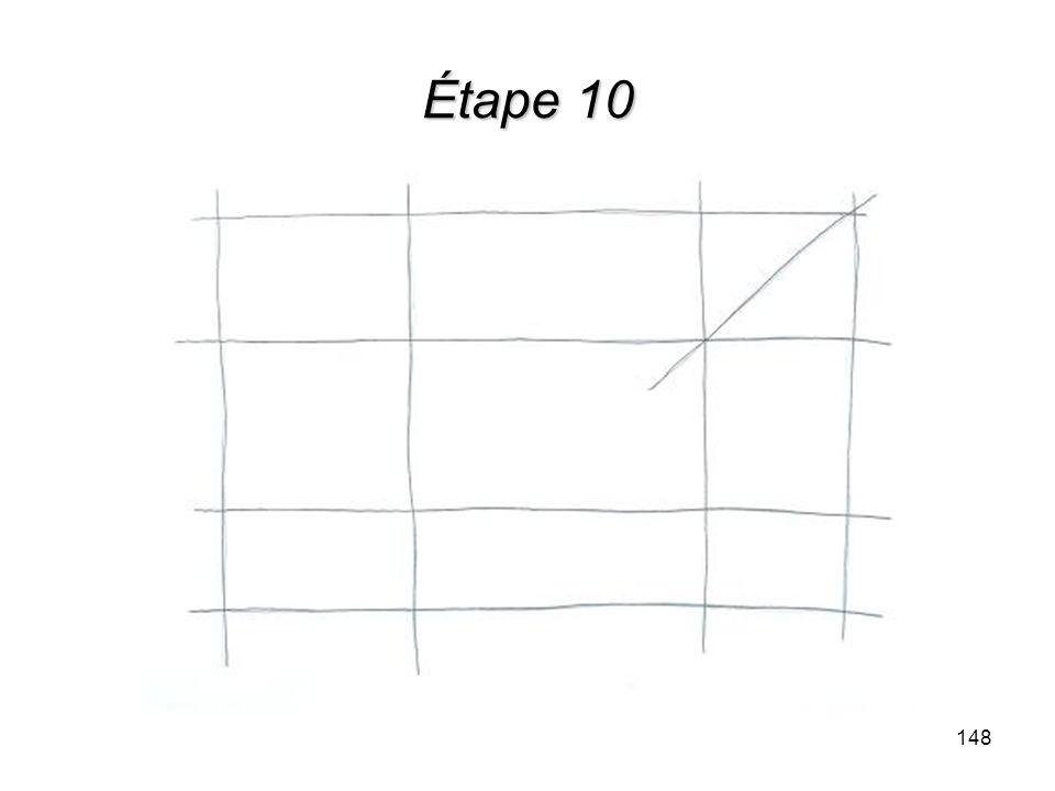 Étape 10