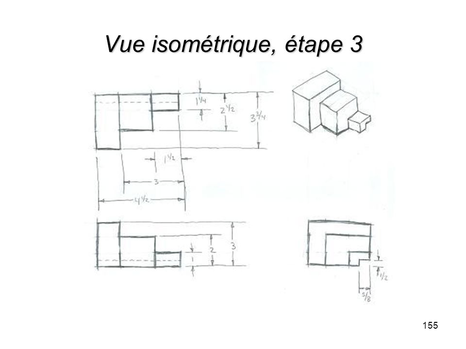 Vue isométrique, étape 3