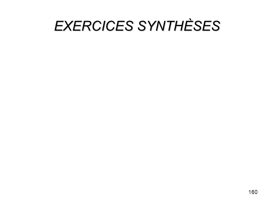EXERCICES SYNTHÈSES