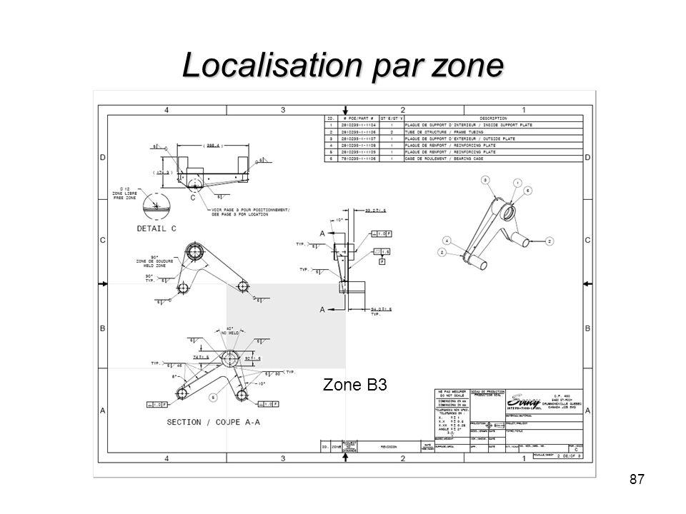 Localisation par zone Zone B3
