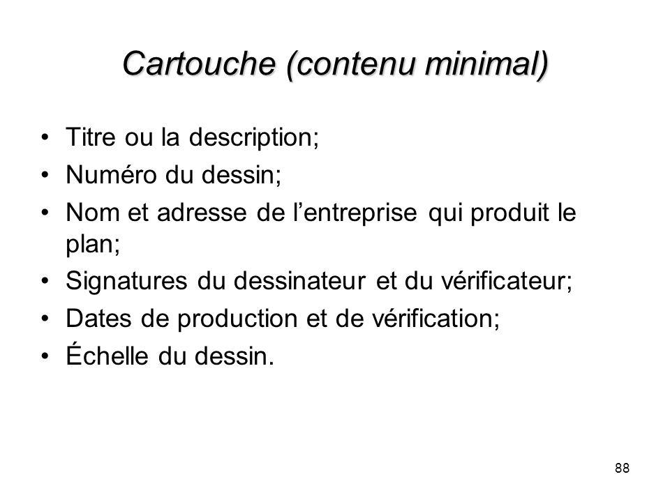 Cartouche (contenu minimal)