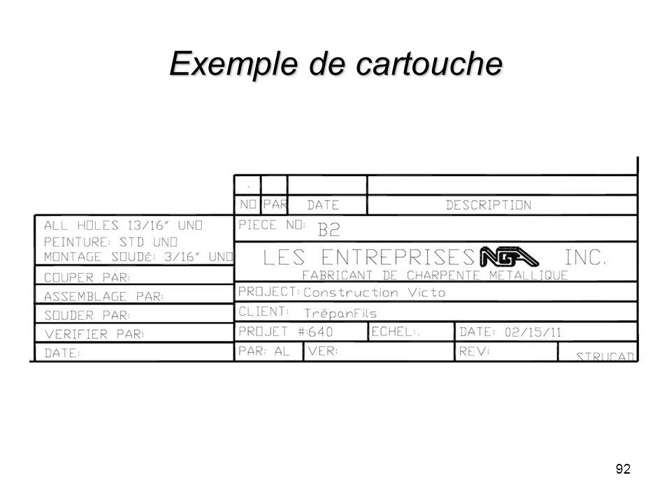 Exemple de cartouche