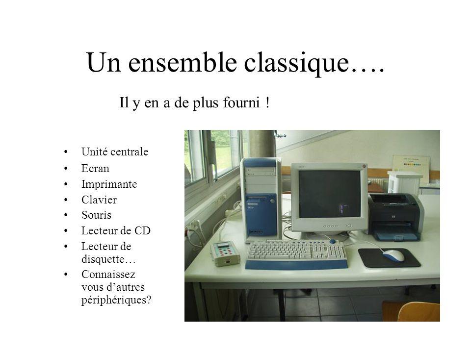 Un ensemble classique….
