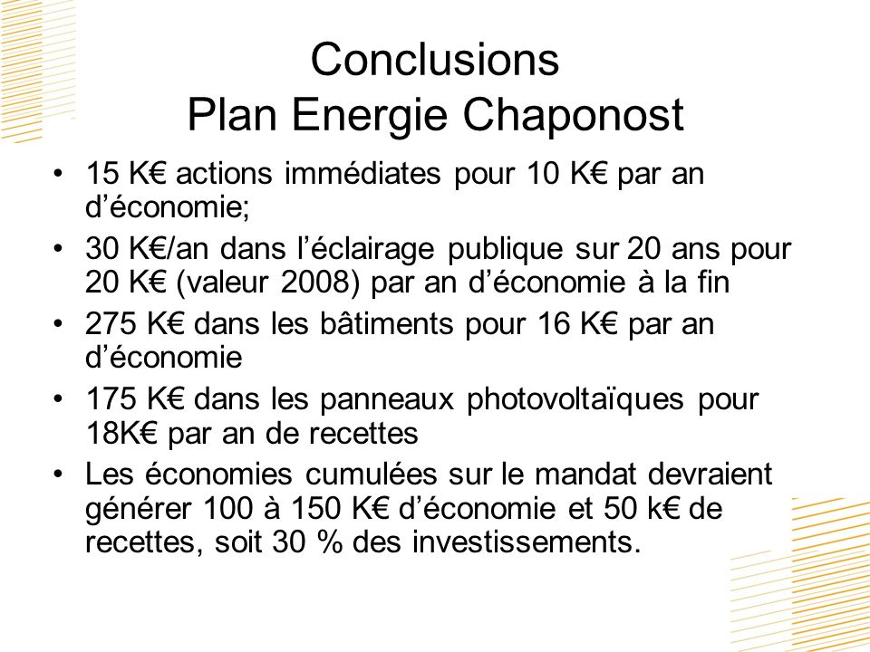 Conclusions Plan Energie Chaponost