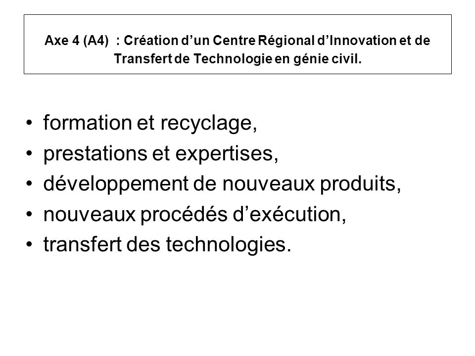 formation et recyclage, prestations et expertises,