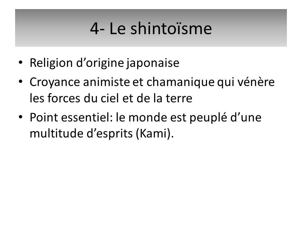 4- Le shintoïsme Religion d'origine japonaise