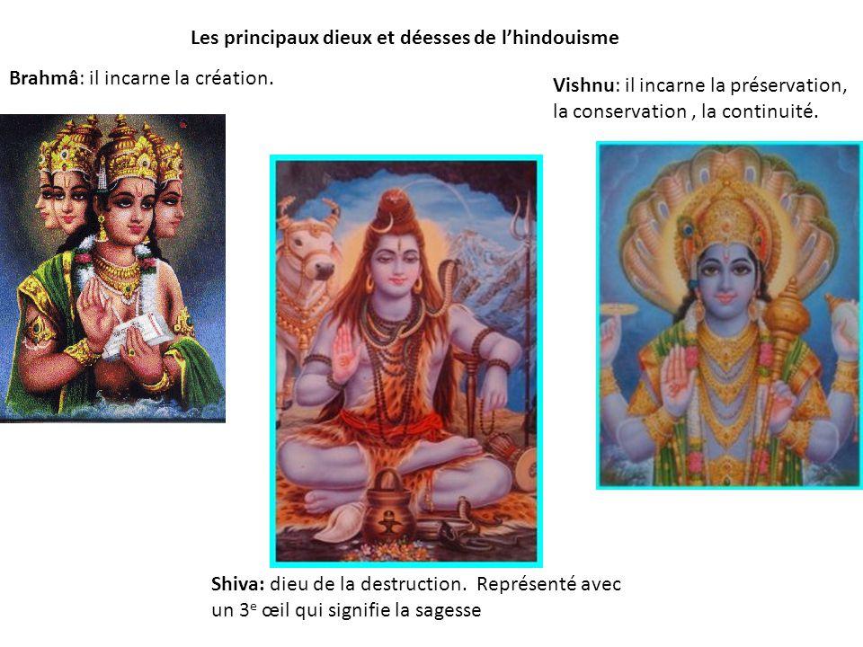 Les principaux dieux et déesses de l'hindouisme