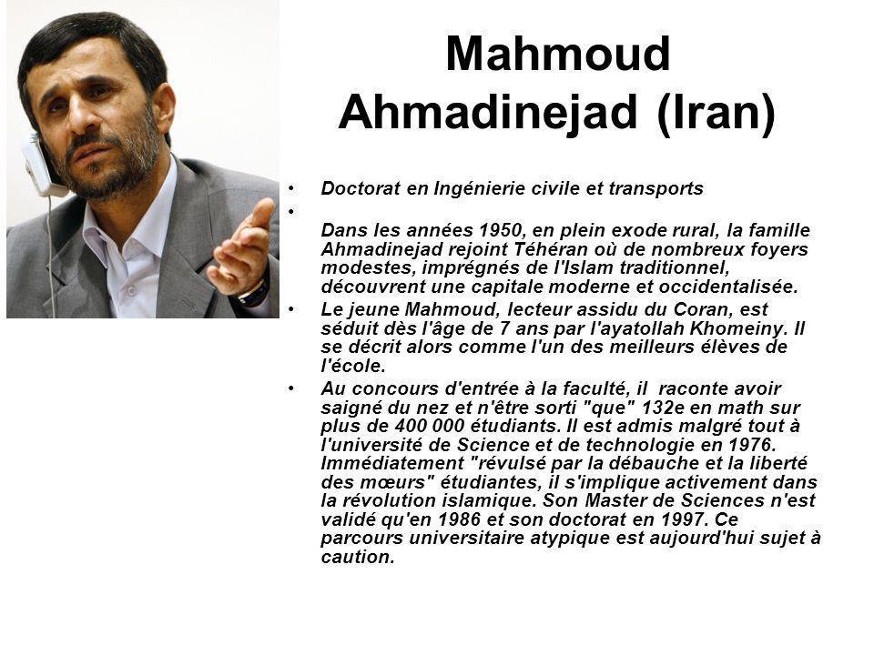 Mahmoud Ahmadinejad (Iran)