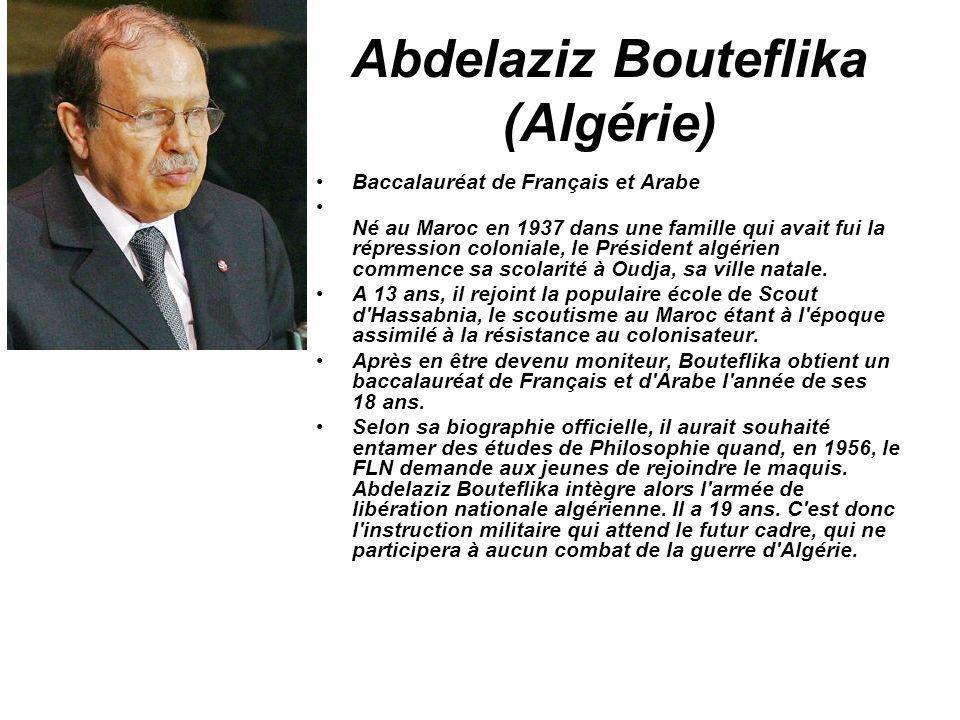 Abdelaziz Bouteflika (Algérie)