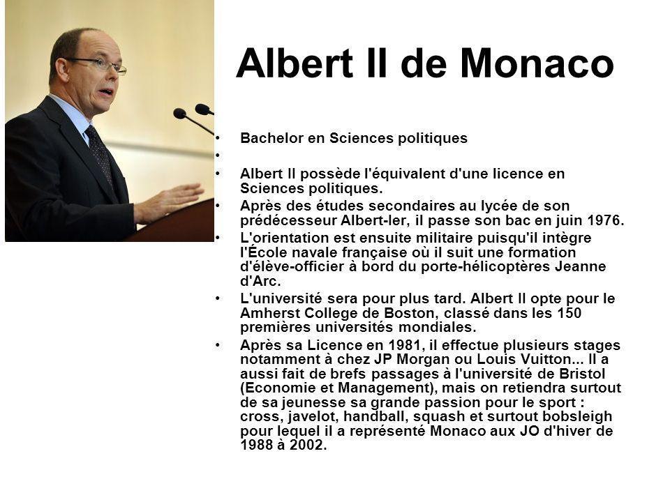 Albert II de Monaco Bachelor en Sciences politiques