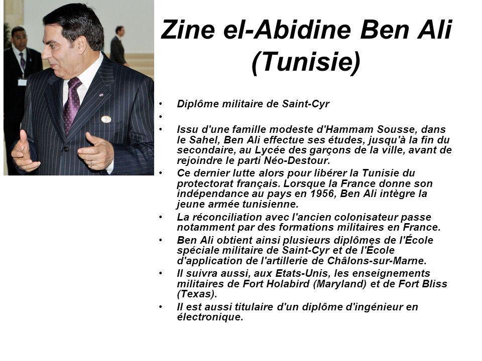 Zine el-Abidine Ben Ali (Tunisie)