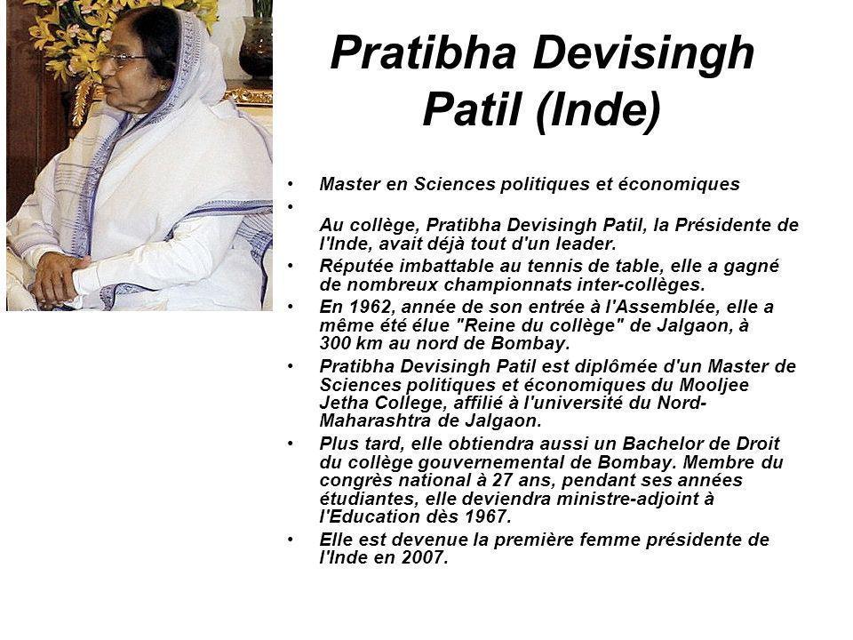 Pratibha Devisingh Patil (Inde)