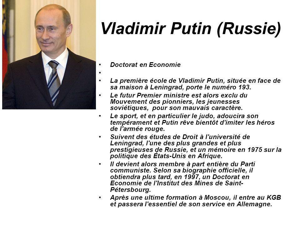 Vladimir Putin (Russie)