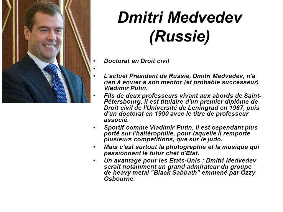 Dmitri Medvedev (Russie)