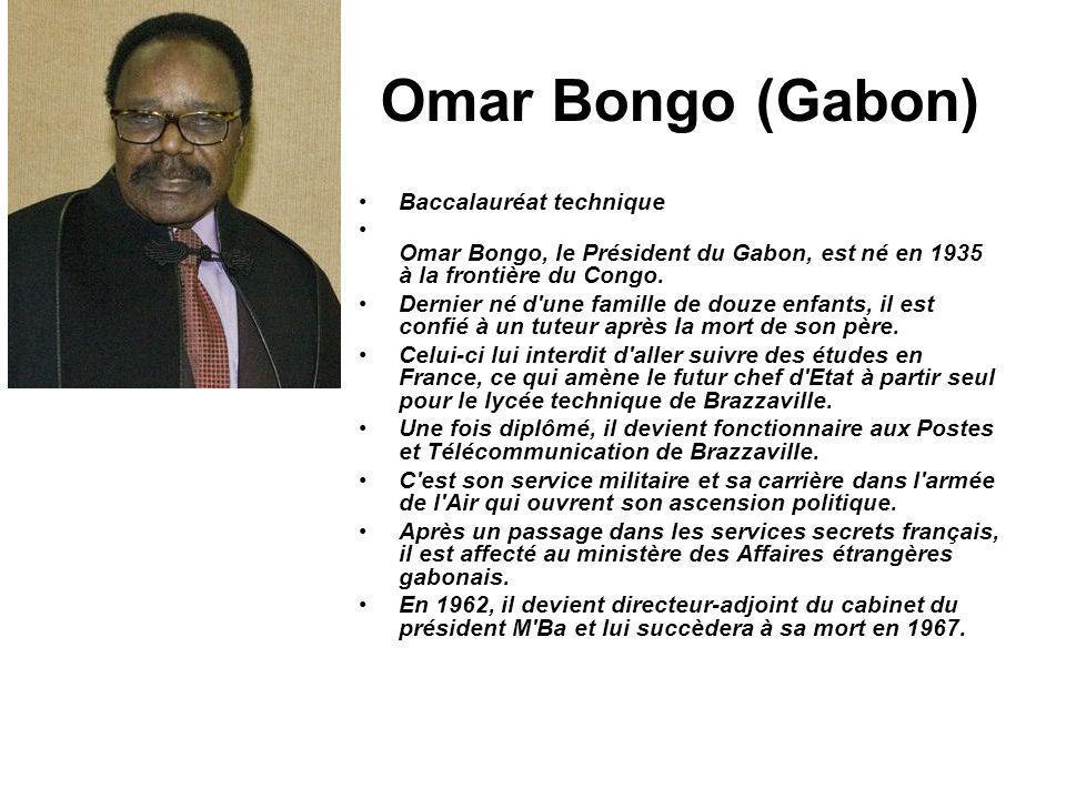 Omar Bongo (Gabon) Baccalauréat technique