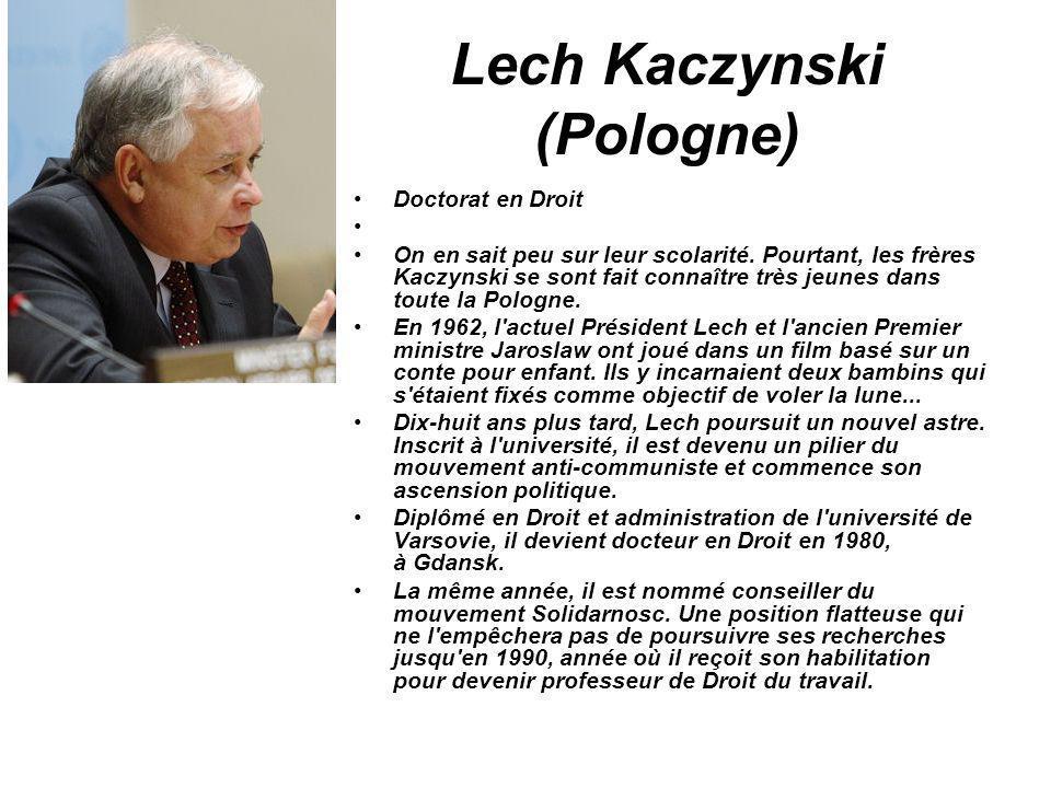 Lech Kaczynski (Pologne)