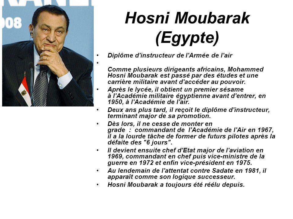Hosni Moubarak (Egypte)
