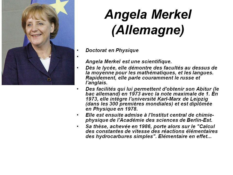 Angela Merkel (Allemagne)