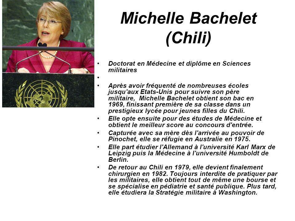 Michelle Bachelet (Chili)