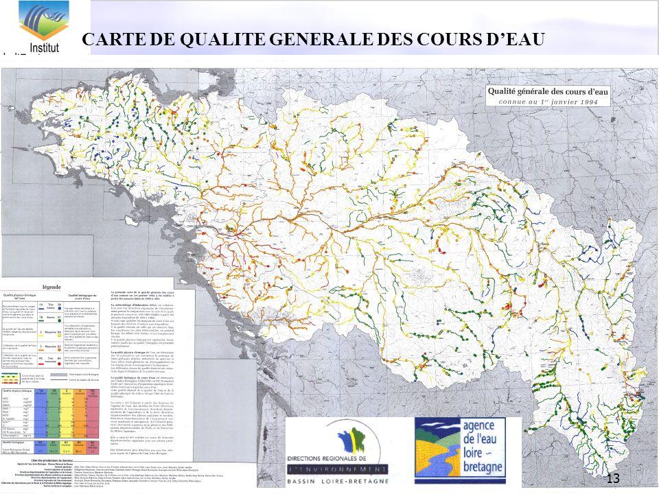 CARTE DE QUALITE GENERALE DES COURS D'EAU