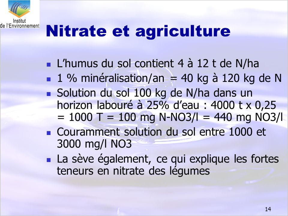 Nitrate et agriculture