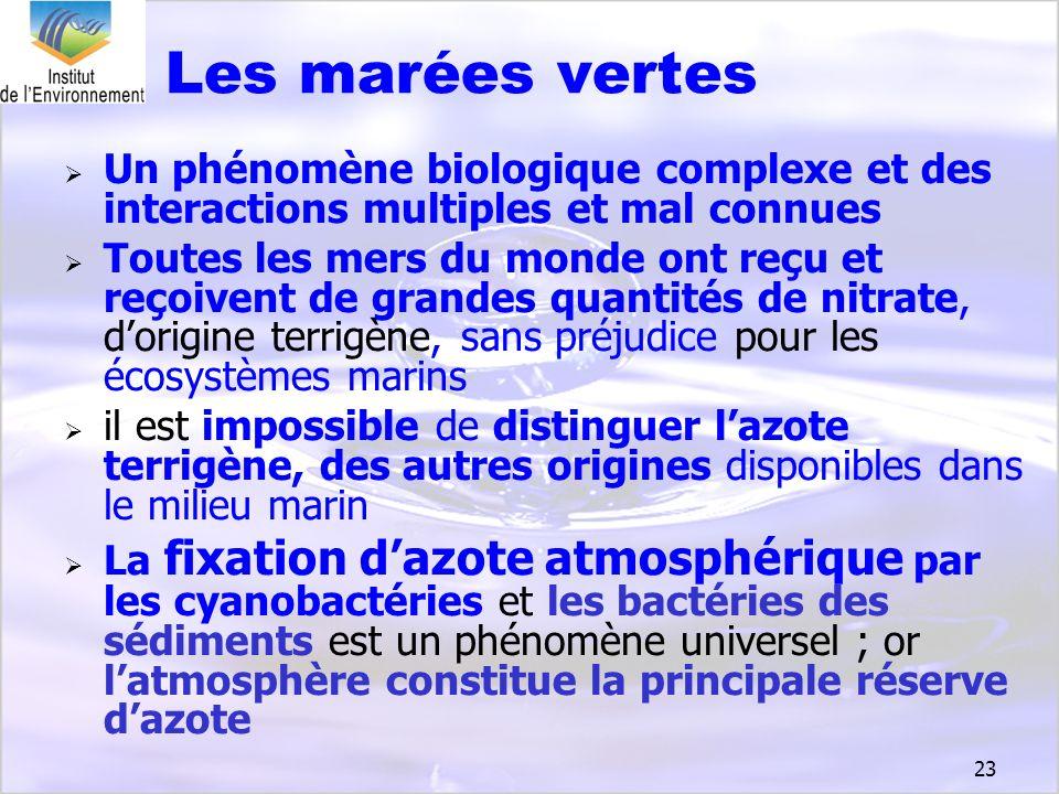 Les marées vertes Un phénomène biologique complexe et des interactions multiples et mal connues.