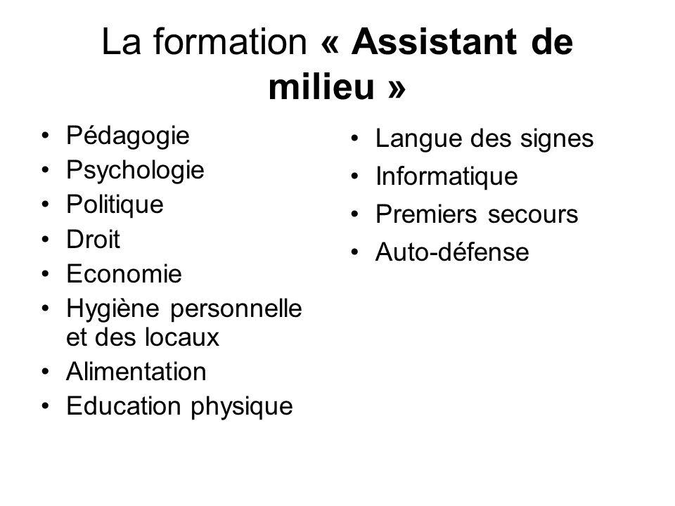 La formation « Assistant de milieu »
