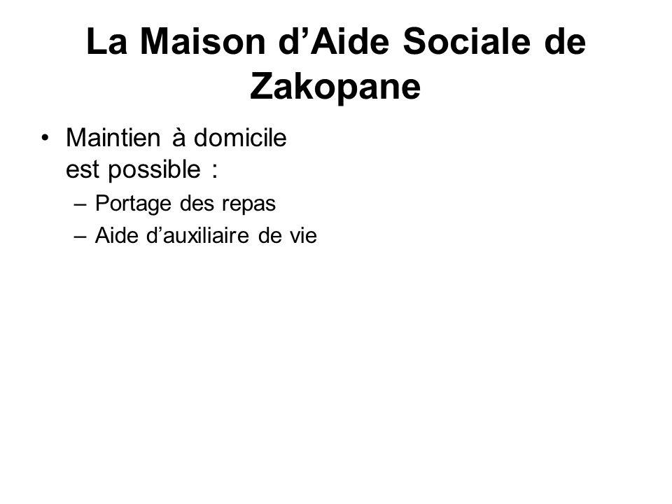 La Maison d'Aide Sociale de Zakopane