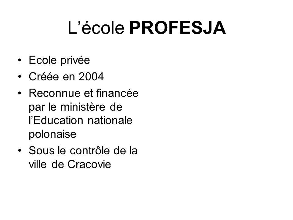 L'école PROFESJA Ecole privée Créée en 2004