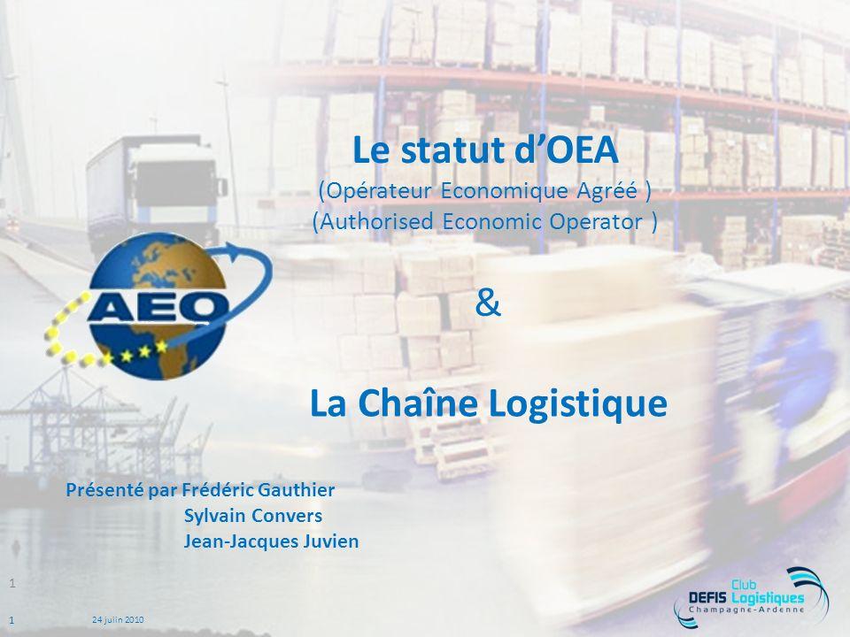 Le statut d'OEA (Opérateur Economique Agréé ) (Authorised Economic Operator )