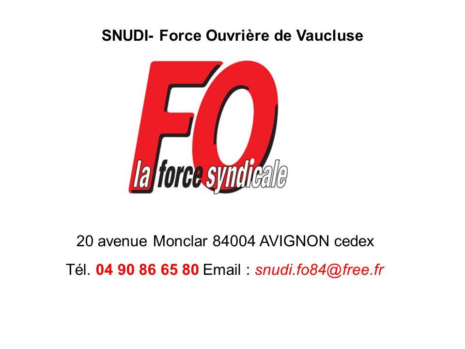 SNUDI- Force Ouvrière de Vaucluse