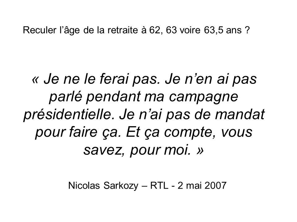 Nicolas Sarkozy – RTL - 2 mai 2007