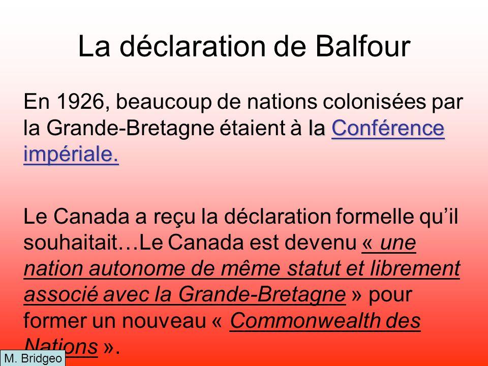 La déclaration de Balfour