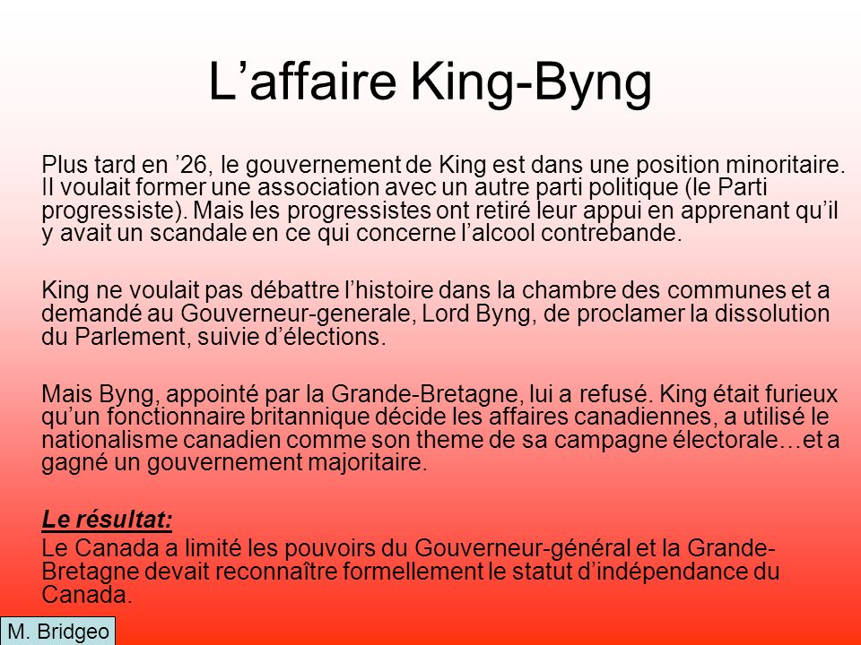 L'affaire King-Byng
