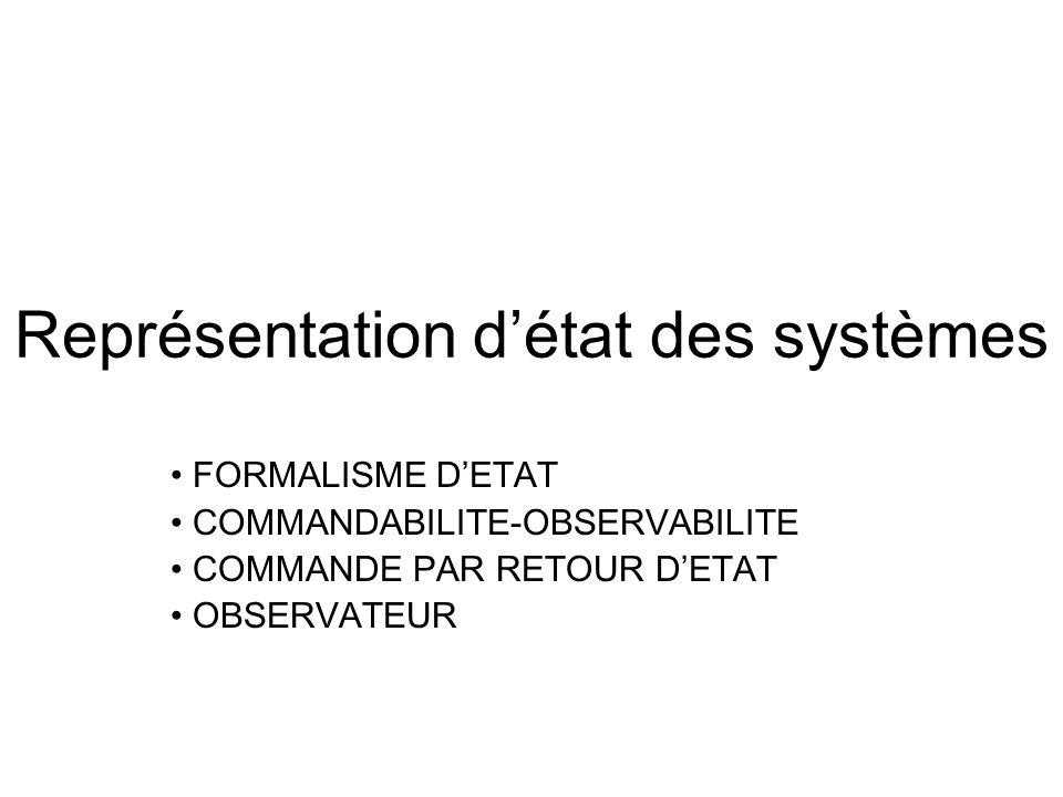 Représentation d'état des systèmes