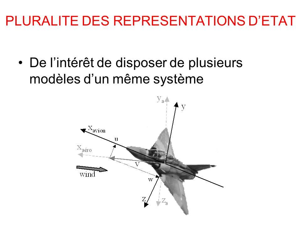 PLURALITE DES REPRESENTATIONS D'ETAT