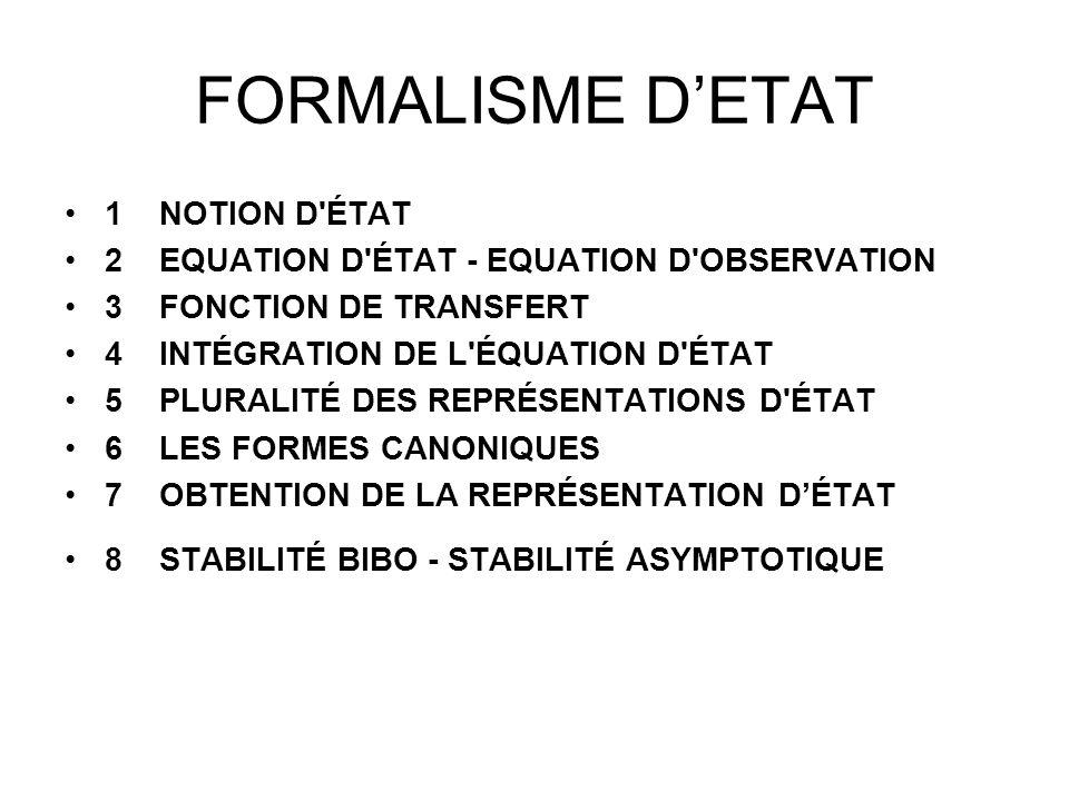 FORMALISME D'ETAT 1 NOTION D ÉTAT
