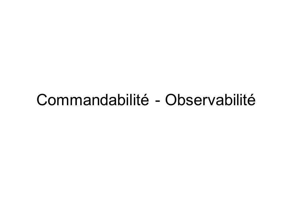 Commandabilité - Observabilité