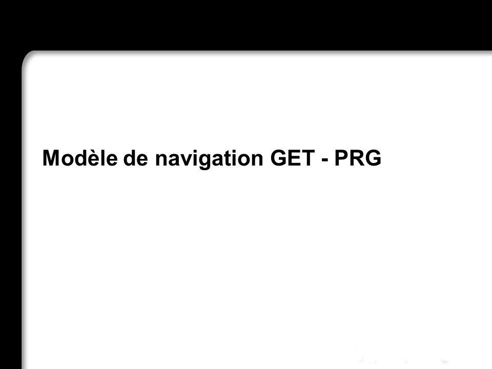 Modèle de navigation GET - PRG