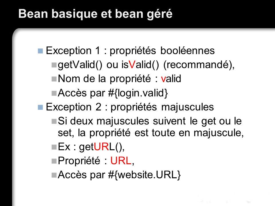 Bean basique et bean géré