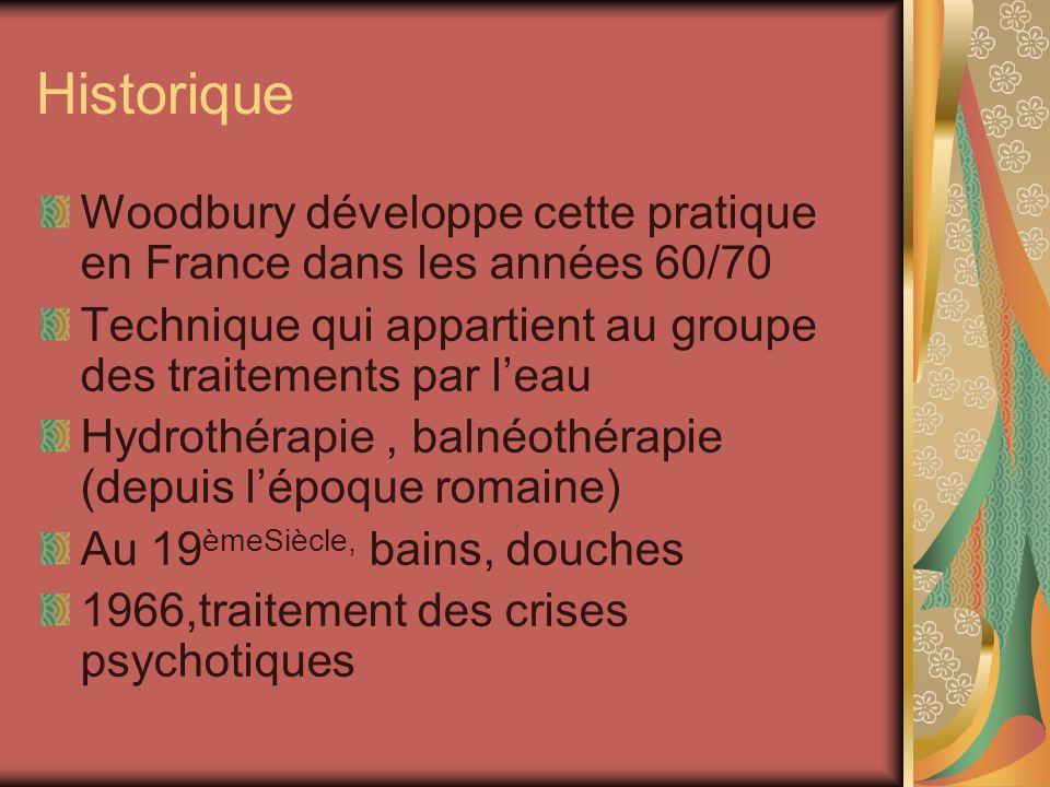 Historique Woodbury développe cette pratique en France dans les années 60/70. Technique qui appartient au groupe des traitements par l'eau.