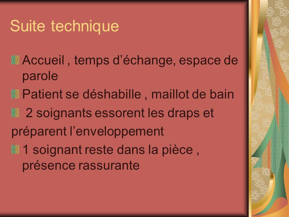 Suite technique Accueil , temps d'échange, espace de parole
