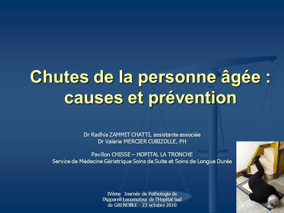 Chutes de la personne âgée : causes et prévention